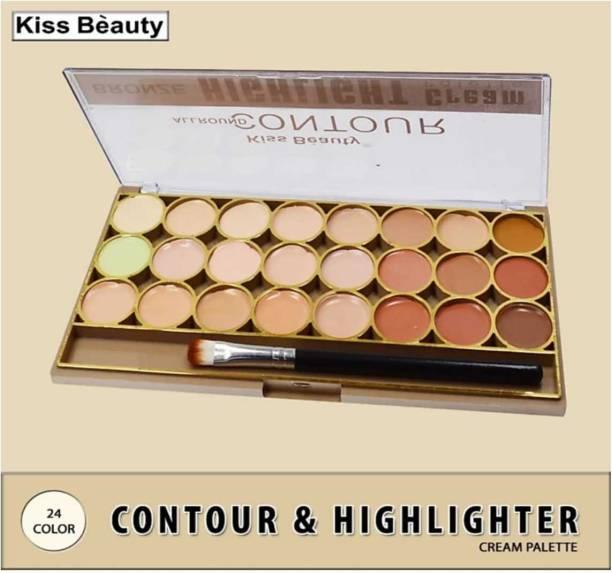 Kiss Beauty All Round Contour Highlight Cream Palette 9464-01 Concealer (24g) Highlighter