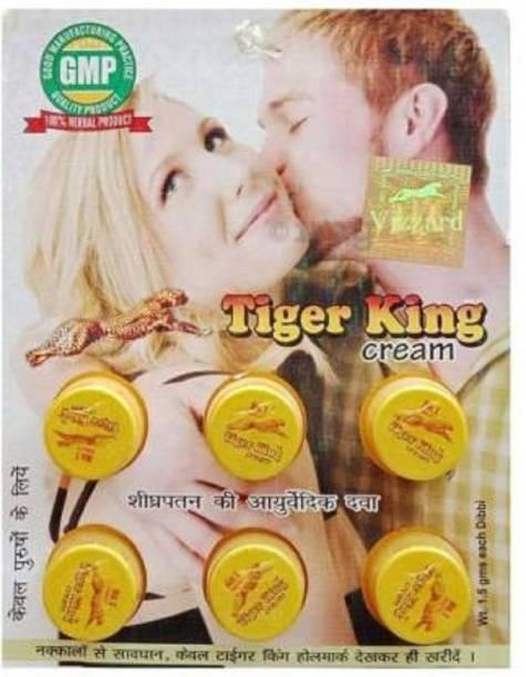 Z BEAUTY 3 TIGER KING CREAM FOR TIME DELAY CREAM PACK OF 6 1*6=6 og
