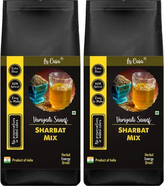 La Casa Instant Variyali (Saunf) Sharbat Mix | Combo Pack of 2 | Fennel Herbal Energy Drink | Loads of Health Benefits |
