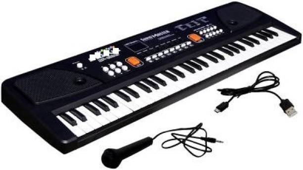 TrueBucks 61 keys Electronic Piano Keyboard with LED Display & Microphone