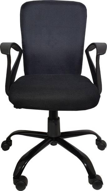 The Chair House Fabric Office Adjustable Arm Chair