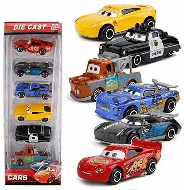 The Simplifiers Diecast Metal Lightning McQueen and Cars Toys -Set of 6