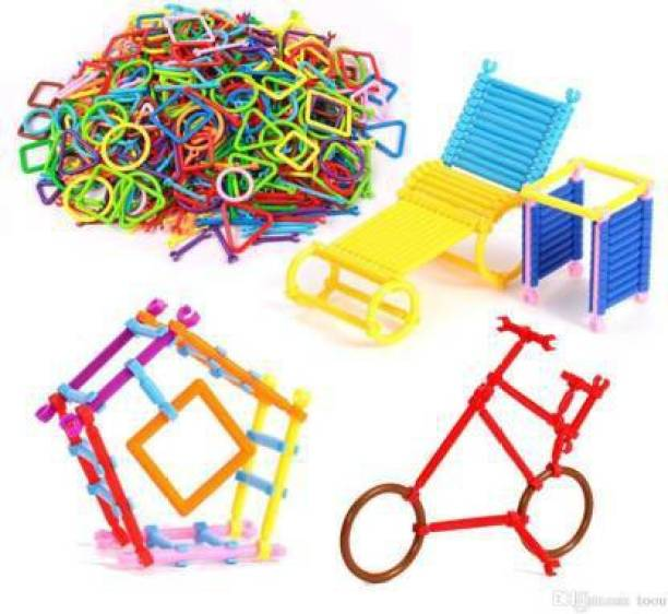 Smartcraft Magic Building Kit/Blocks - Colourful Building Stick Kits, Connector Set Innovative Shapes and Designs Can Be Made, Multi Color