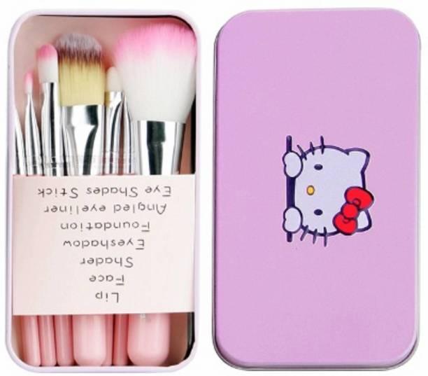 Prefetto COSMO Mini Pink Brush Set with storage box set of 7