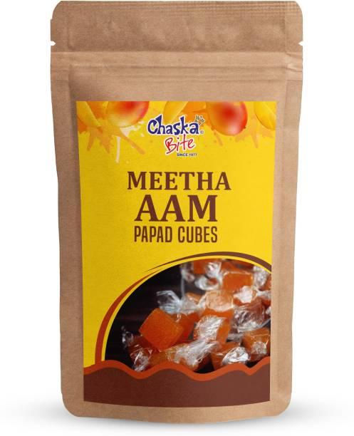 CHASKA BITE  Aam Papad Cubes Khatta Meetha Mango Candy Meetha Aam 250 gm Mango Candy