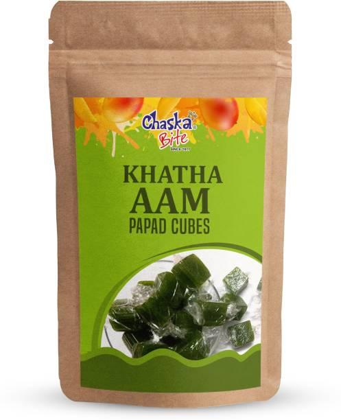 CHASKA BITE  Green Aam Papad Khatta Meetha Mango Candy Meetha Aam 250 gm Green Mango Candy