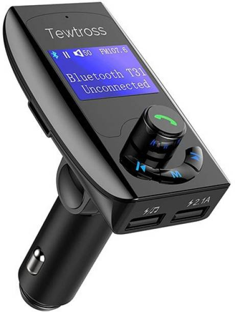 Tewtross v4.1 Car Bluetooth Device with FM Transmitter