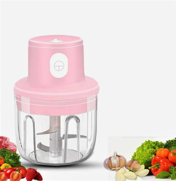 AASAVI Electric Wireless Mini Garlic Chopper | Portable Mini Food Chopper with USB Charging | Powerful Small Food Processor Masher Blender for Baby Food, Fruits, vegetable, Meat, Nuts & many more Electric Vegetable Chopper