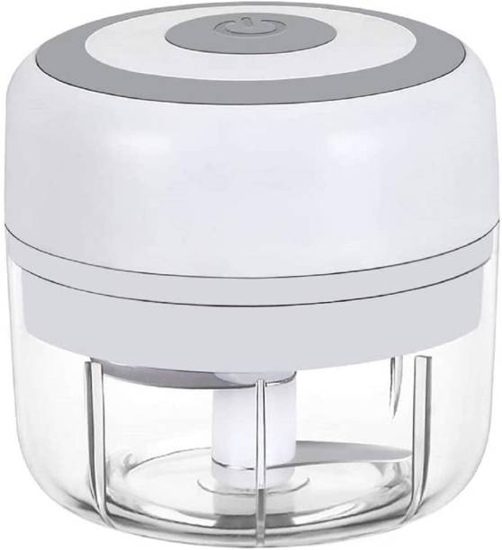 AASAVI Wireless Electric Mini Food Chopper | USB Charging Electric Garlic Onion Mincer Mixer Slicer | Portable Mini Blender Chopper for Baby Food, Fruits, vegetables, Meat, Nuts and many more Electric Vegetable Chopper