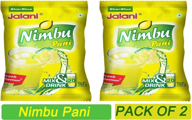 StarBlue Special Instant beverage mix powder for making refreshing nimbu pani without need of squeezing lemons and mixing other ingredients 200 GM PACK OF 2