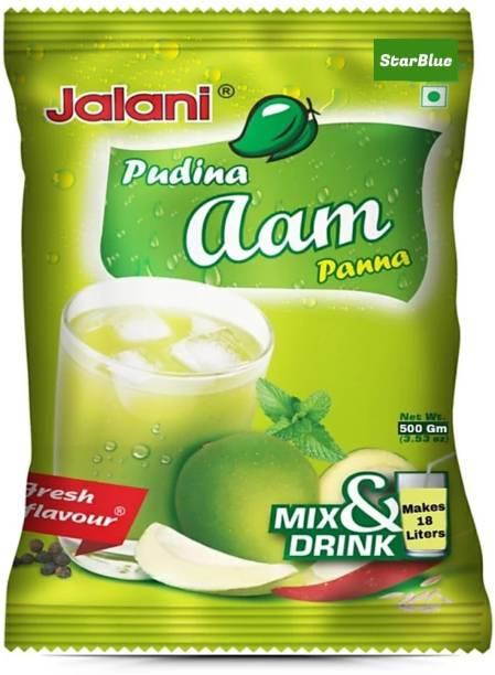 StarBlue Special Instant beverage mix powder with the freshness of mint and tanginess of green mango for making traditional Indian household Pudina Aam Panna / Karry Pani (500gm)