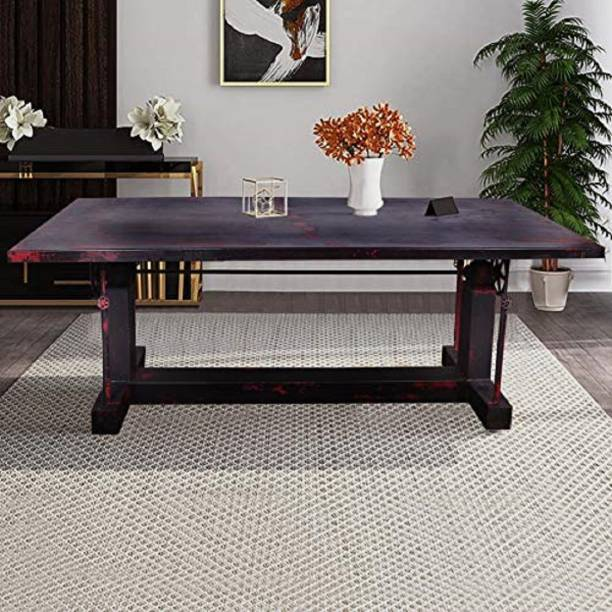 Designe Gallery Metal 6 Seater Dining Table