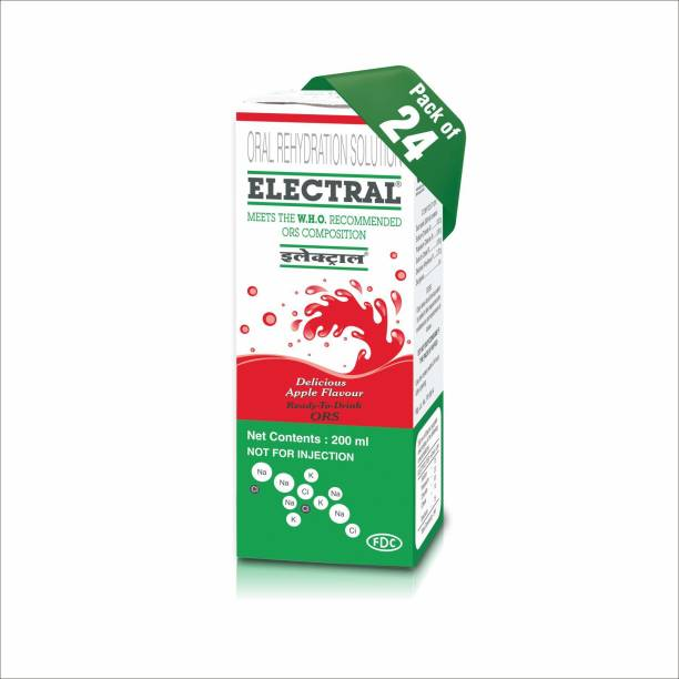 Electral Apple Flavoured Tetra Pack of 24 Hydration Drink (24x200 ml, Apple Flavored) Energy Drink