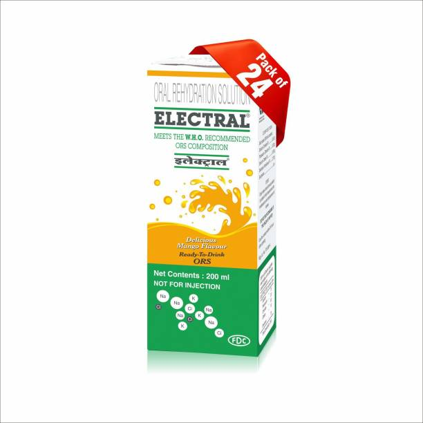 Electral Mango Flavoured Tetra Pack of 24 Hydration Drink (24x200 ml, Mango Flavored) Energy Drink
