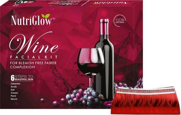 NutriGlow Wine Facial Kit (250+10)g with Clutch Free