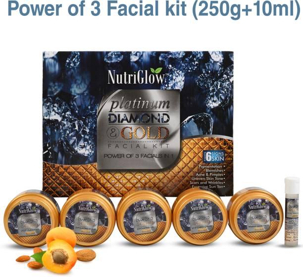 NutriGlow Platinum & Diamond Facial Kit 250 g