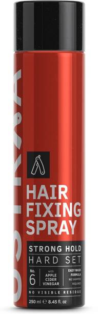 USTRAA Hair Fixing Spray - Strong Hold 250ml - For Bold look with Extreme Hold Hair Spray