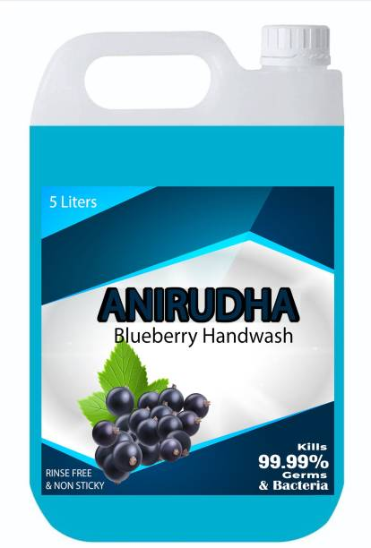 ANIRUDHA Disinfectant Hand Wash 5 litre, Blueberry Flavor Hand Wash Can