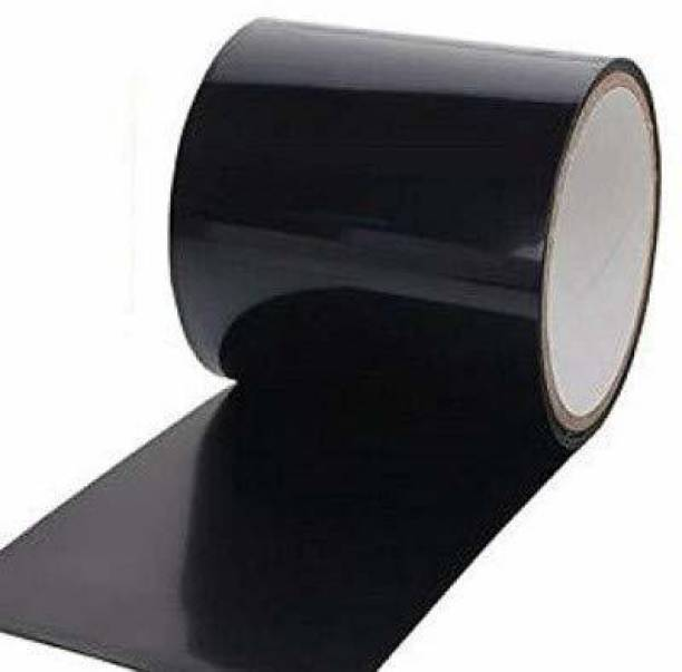 """Maithili Enterprise Pack Of 1 Flex Tape PVC Rubberized Waterproof Tape Water Leakage Seal Silicon Sealant Super Strong Adhesive Tape For Water Tank Sink Sealant for Gaps 4"""" x 5' Black 10.2 cm Tear Tape"""