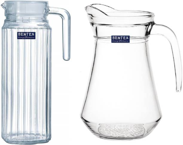 Bentex 1.2 L Water Water Jug with Lid and Handle, Pitcher with Lid, Drinking Beverage Jug Jug