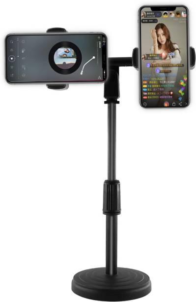 GiftMax Dual Phone Holder Desktop Adjustable Smartphone Phone Stand Holder Mobile Holder