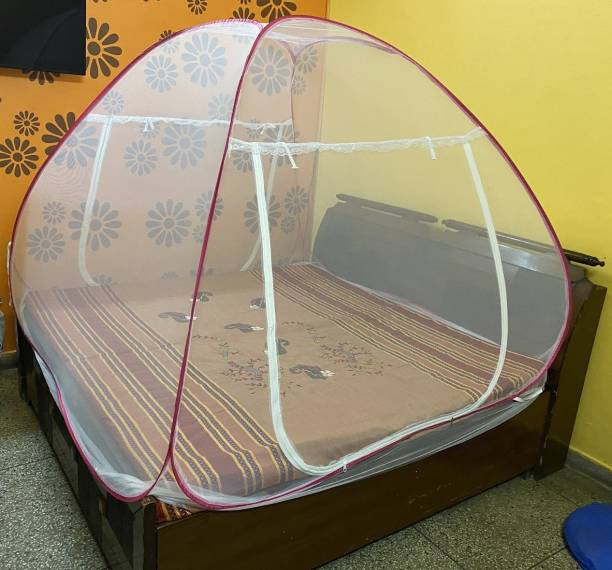 Dhuloom Polyester Adults Double Bed Folding Mosquito Net Mosquito Net