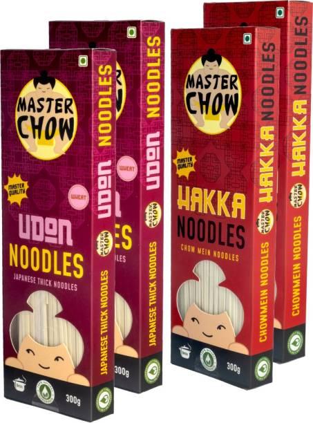 MasterChow Chinese Hakka & Udon Noodle Kit (Pack of 4) | No Preservatives | Get Restaurant Style Taste in Just 10 Minutes | Serves 4-5 Meals Hakka Noodles Vegetarian