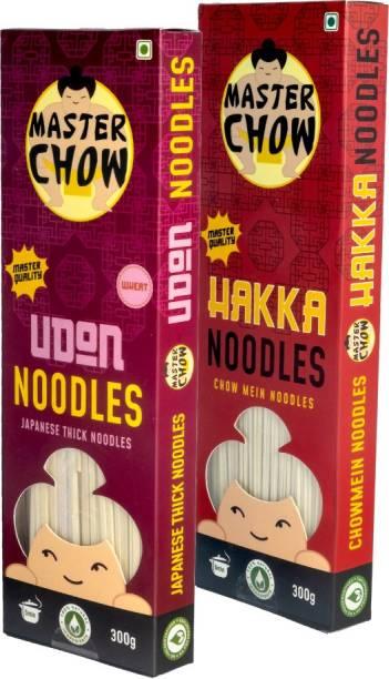 MasterChow Chinese Hakka & Udon Noodle Kit | No Preservatives | Get Restaurant Style Taste in Just 10 Minutes | Serves 4-5 Meals Hakka Noodles Vegetarian
