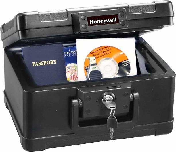 Honeywell Safes – 30 Minute Fire Safe Box Chest with Carry Handle, Small, 1101 Safe Locker