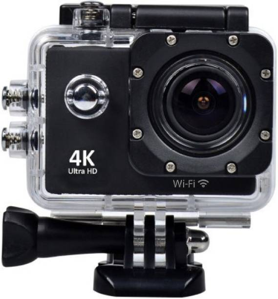 Xmate Sports Action Camera Sports Action Camera with 16MP High Resolution with Wi-Fi   Built-in Microphone  4K Ultra HD Video Recording with 120 Degree Wide Angle Lens and Waterproof Upto 30 Meters (Black) Sports and Action Camera