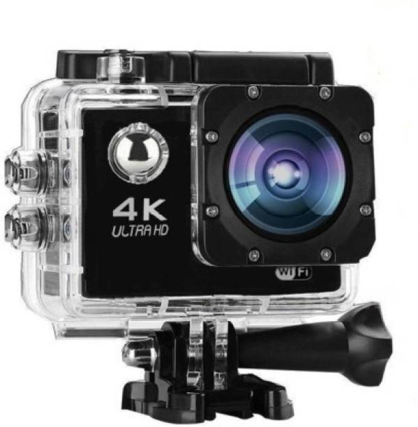 DOLI 4K 4k Uktra HD Sports Action Camera with 16MP High Resolution with Wi-Fi   Built-in Microphone  120 Degree Wide Angle Lens and Waterproof Upto 30 Meters (Black) Sports and Action Camera