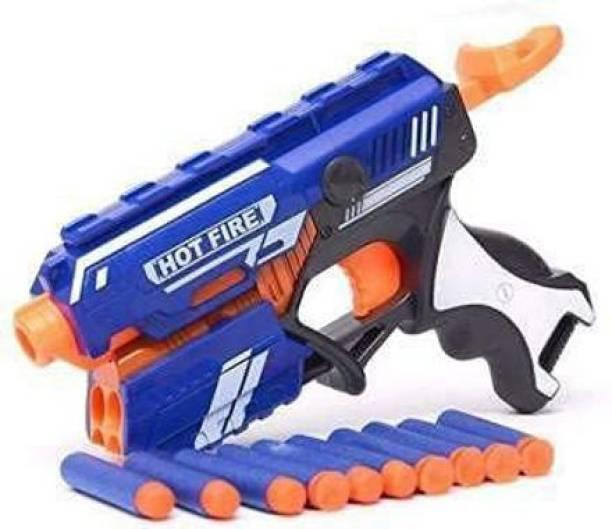 ARONET Manual Blaze Storm Gun Blaster hot fire toy gun with 10 Foam Bullet Darts Darts & Plastic Bullets