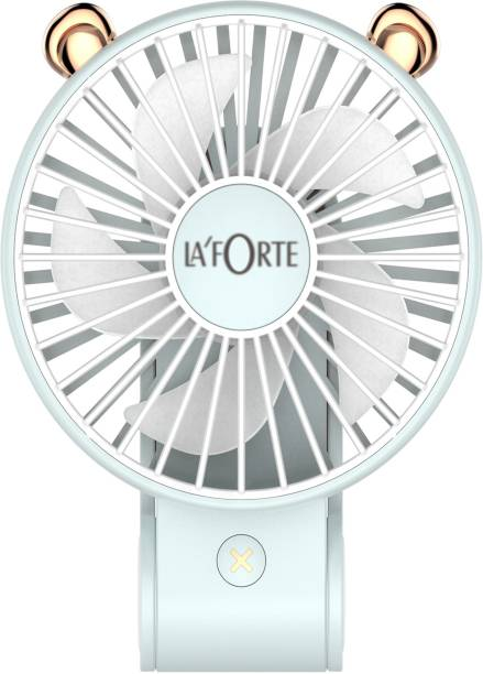 LA'FORTE Stylish P 23 Premium Superior Blue 3 in 1 Foldable Fan Rechargeable Fan