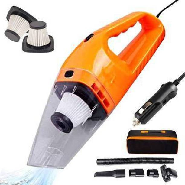 Ozoy 12V High Power 120W Portable Handheld Vacuum Cleaner Wet Dry Dual-Use Super Suction With Washable Filter Car Vacuum Cleaner Car Vacuum Cleaner with Anti-Bacterial Cleaning, 2 in 1 Mopping and Vacuum Car Vacuum Cleaner