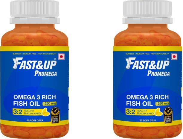 Fast&Up Omega 3 Fish Oil Capsules 1250 mg - 375 EPA, 250 DHA