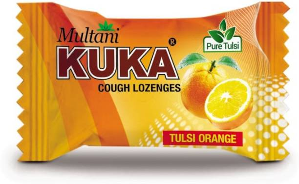 Multani Cough Lozenges | Ayurvedic Cough Tablets | Relief From Cough, Sore Throat, Soreness & Other Throat Problems | Natural Cough Drops | Throat Soothing Remedy | Flavored Lozenges | Tulsi-Orange