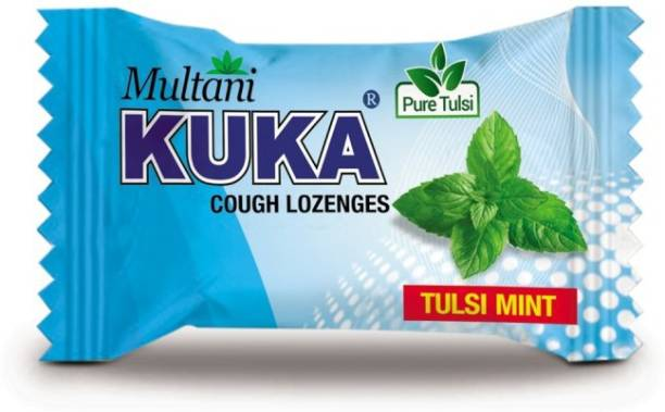Multani Kuka Cough Lozenges | Ayurvedic Cough Tablets | Relief From Cough, Sore Throat, Soreness & Other Throat Problems | Natural Cough Drops | Throat Soothing Remedy | Tulsi Mint