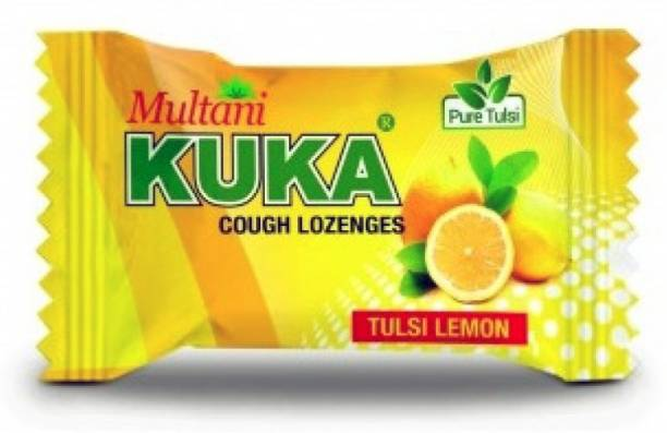 Multani Cough Lozenges | Ayurvedic Cough Tablets | Relief From Cough, Sore Throat, Soreness & Other Throat Problems | Natural Cough Drops | Throat Soothing Remedy | Flavored Lozenges | Tulsi-Lemon