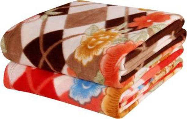 One Cliq Shoppe Floral Single Fleece Blanket