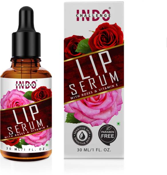 INDO CHALLENGE Pink Lip Serum Oil For Strawberry Flavour , Lip Shine, Glossy, Soft With Moisturizer For Men & Women, Skin Brightening, Cleansing, Radiance & Glow, Deep Cleansing, Radiance & Glow, Marks & Spots Removal