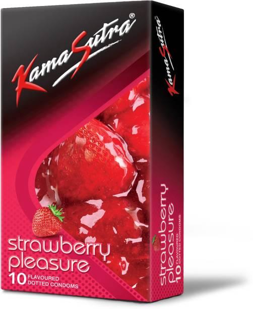 Kamasutra Strawberry Pleasure Flavoured Condoms Condom