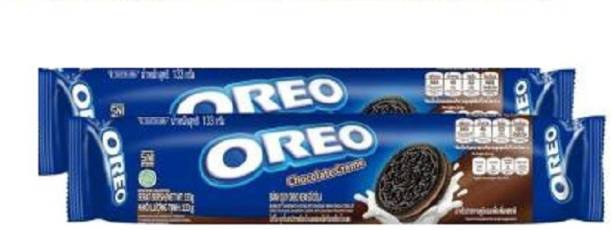 OREO Biscuit Chocolate Crème Flavoured 133 X 2gm (Imported ) (Pack of 2) Cream Filled