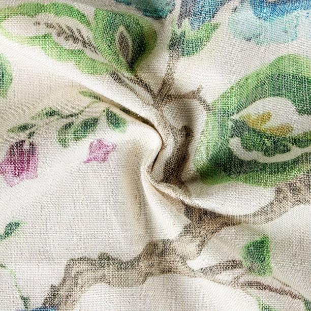 COOQS Marino Digital Print fabric meter cloth Cotton -2 Meter (Multi Green) Curtain Fabric