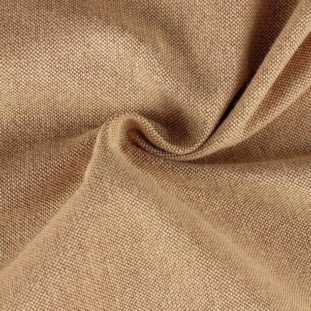 COOQS Shamray Fabric Cotton for Sofa, Furnishing, Upholstery, Cushions, and Craft 5-meter cloth (Beige) Curtain Fabric
