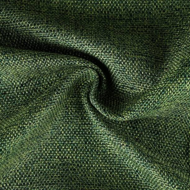 COOQS Shamray fabric meter cloth Cotton -5 Meter (Green) Curtain Fabric