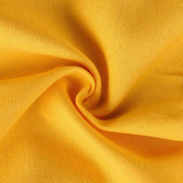 COOQS Shamray fabric meter cloth Cotton -2 (Yellow) Curtain Fabric