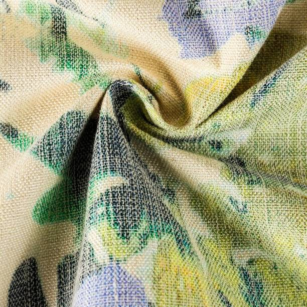 COOQS Marino Digital Print fabric meter cloth Cotton -3 Meter (Multi Green) Curtain Fabric