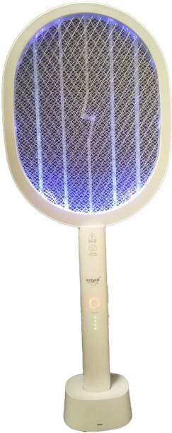 Kedar 2 in 1 Automati Mosquito Swatter Rechargeable Handheld Electric Fly Swatter with UV Light Lamp, Racket USB Charging Base Electric Insect Killer Electric Insect Killer