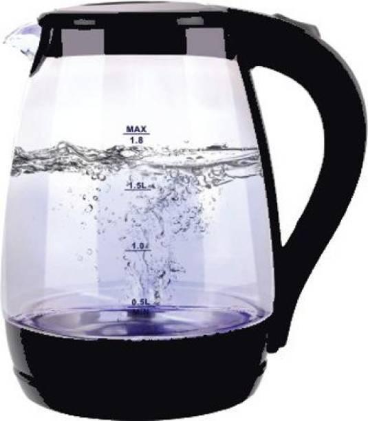 DEZEEN Electric Kettle, Glass Kettle, 1.8 Liters, Tempered Glass Beverage Maker
