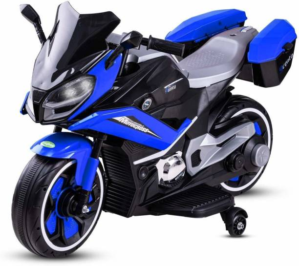 baybee Electric Bikes Rechargeable Battery Operated Ride-on Bike and Baby Ride on/Kids Ride on Toys|Kids Bike|Baby Bike for Kids to Drive Toys Car Suitable for Boys & Girls (Blue) Bike Battery Operated Ride On